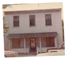 1977, The Clay Haus prior to renovation
