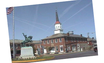Somerset Courthouse and Statue of General Sheridan